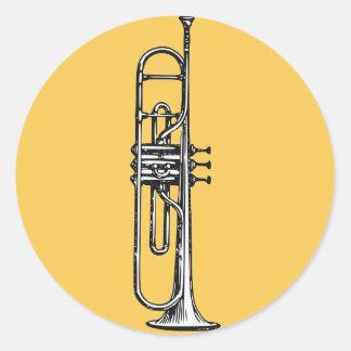 Trumpet Runt Klistermärke