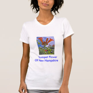Trumpeta blomman,       trumpetblomma av ny t shirts