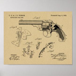 Tryck 1885 för teckning för konst för Wesson Poster