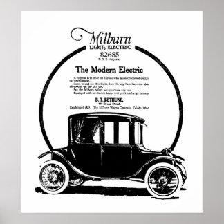 Tryck 1919 för Milburn elbilvintage annons
