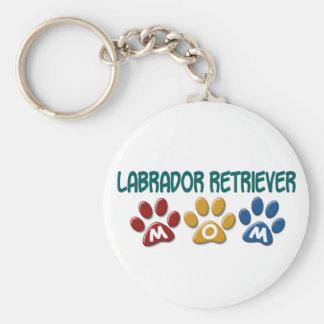 Tryck 1 för tass för mamma för LABRADOR RETRIEVER Rund Nyckelring