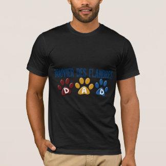Tryck 1 för tass för PAPPA för BOUVIER-DES Tshirts