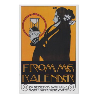 Tryck för affisch för art nouveau för Frommes vint