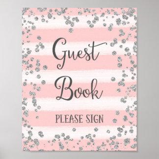 Tryck för affisch för bröllopgästbok