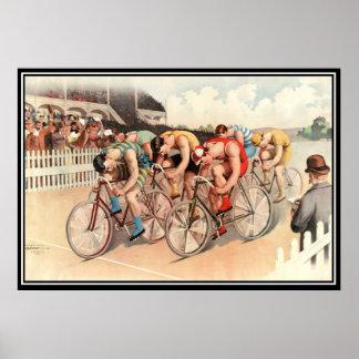 Tryck för affisch för vintagecykeltävling 1904