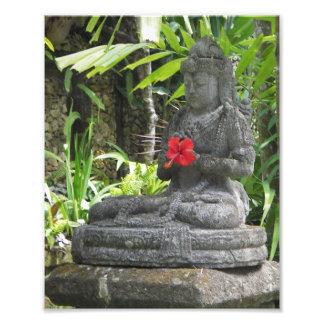 Tryck för Bali statyfoto