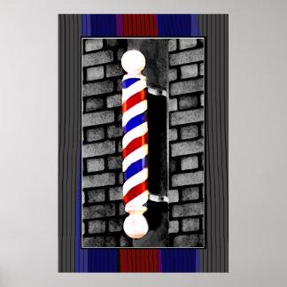 Tryck för barberare-/manar hårstylistaffisch poster