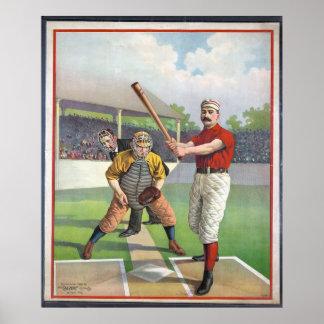 Tryck för baseballvintagesport poster