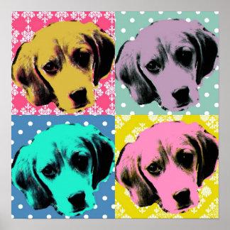 Tryck för Beaglepopkonst Poster