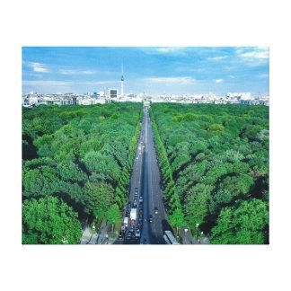 Tryck för Berlin Tiergarten kanfasfoto