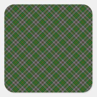 Tryck för Breton Tartan för udd designat (Kanada) Fyrkantigt Klistermärke