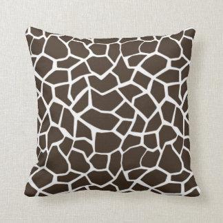 Tryck för brun giraff för Bistre djurt Kudde