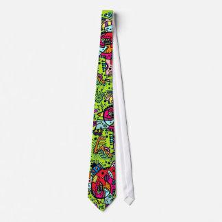 Tryck för bylte för klotter för limefruktgröntabst slips