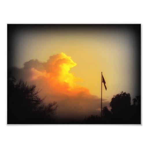 Tryck för ett Arizona solnedgångfoto (7x5) Fotografi