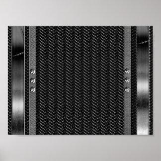 Tryck för fiber för kol för metallLookgräns