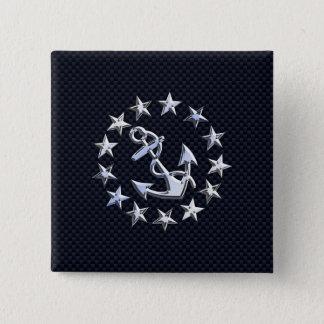 Tryck för flagga för yacht för något liknande för standard kanpp fyrkantig 5.1 cm