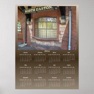 Tryck för ~ för kalender för tågstationfönster poster