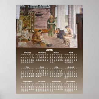 Tryck för ~ för kalender för WPA-väggmålningar 3 Poster