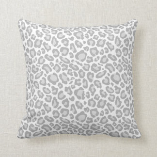Tryck för grå färgvitLeopard Dekorativ Kudde