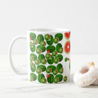 Tryck för grönt för mugg för vattenmelonkaffetea