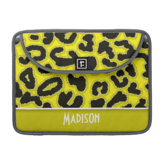 Tryck för gul Leopard för Cadmium djurt; Personlig Sleeves För MacBooks