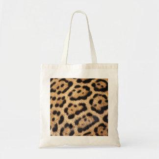 Tryck för jaguarpälsfoto tygkasse