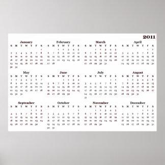 tryck för kalender 2011 poster