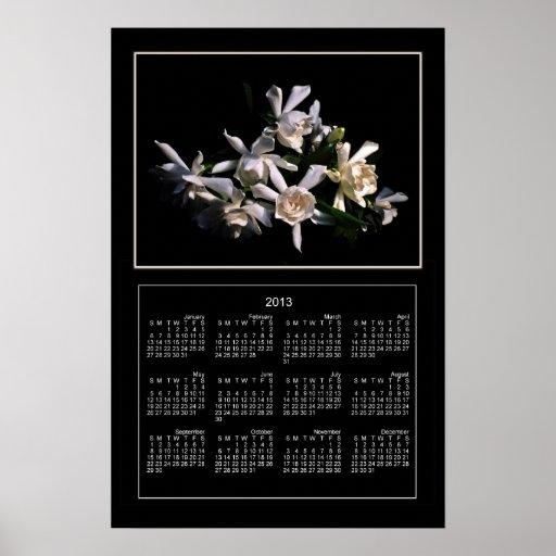 Tryck för kalender för Gardeniabukett 2013 Posters