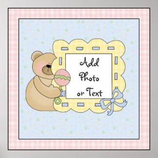 Tryck för konst för affisch för babybjörntema poster