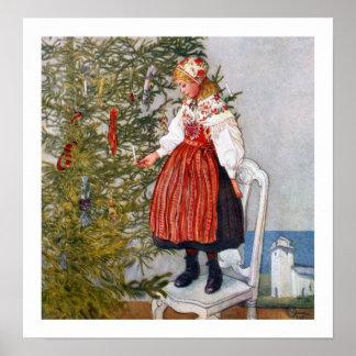 Tryck för konst för Carl Larsson julgranaffisch Poster