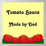 Tryck för konst för etikett för tomatsås beställni affisch