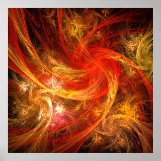 Tryck för konst för FirestormNovaabstrakt