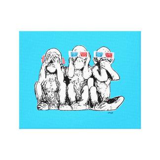 Tryck för konst för pop för tre klokt canvastryck