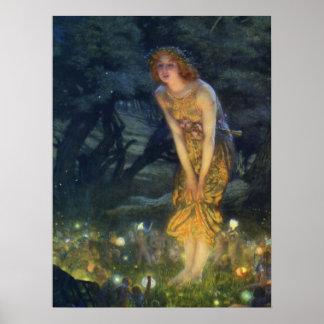Tryck för konst för Pre-Raphaelite för Midsummerkv