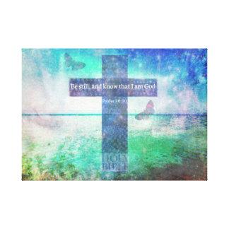 Tryck för konst för Verse för bibel för Psalm46:10