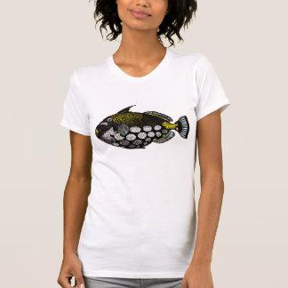 Tryck för konst för vintageclownTriggerfish Tshirts