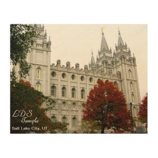 Tryck för LDS-tempelTrätavla Trätavla