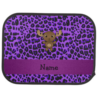 Tryck för leopard för känd älg för personlig bil golvmatta