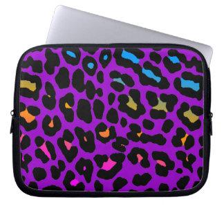 Tryck för Leopard för neon för Corey tiger80-tal Datorskydds Fodral