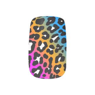 Tryck för Leopard för neon för Corey tiger80-tal Nagelkonst