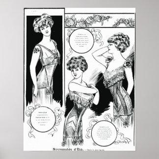 Tryck för Les Dessous elegantillustration
