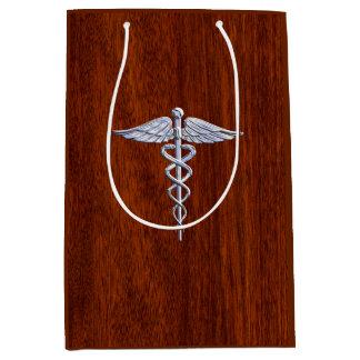 Tryck för mahogny för symbol för lik Caduceus för