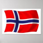 Tryck för norgeflaggaaffisch posters