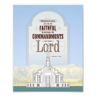 Tryck för Ogden LDS tempelfoto