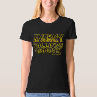 Energy Organic T-shirt Gold Print