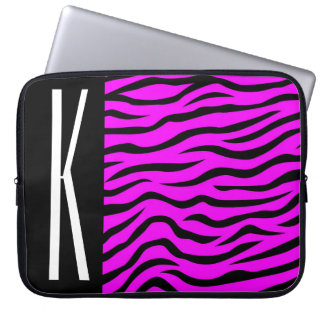 Tryck för purpurfärgad & svart zebra ränder för laptop datorskydd