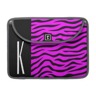 Tryck för purpurfärgad & svart zebra ränder för sleeves för MacBooks