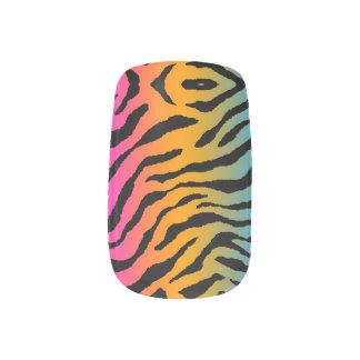Tryck för randar för tiger för neon för Corey tige Nail Stickers