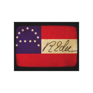 Tryck för Robert E Lee högkvarterflagga