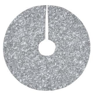 Tryck för silverglitterstruktur julgransmatta borstad polyester